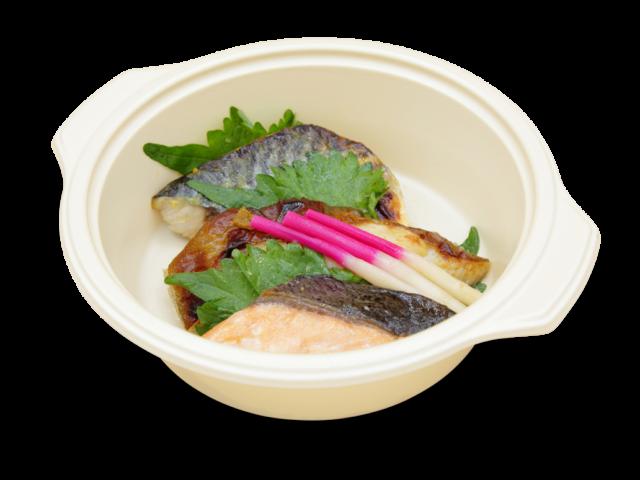 焼き魚の三種盛り