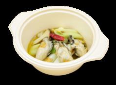 広島産牡蠣と徳田ねぎのアヒージョ