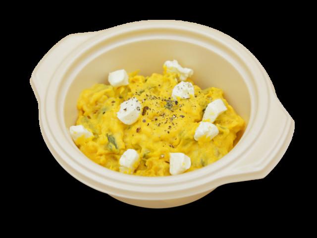 カボチャとクリームチーズのサラダ